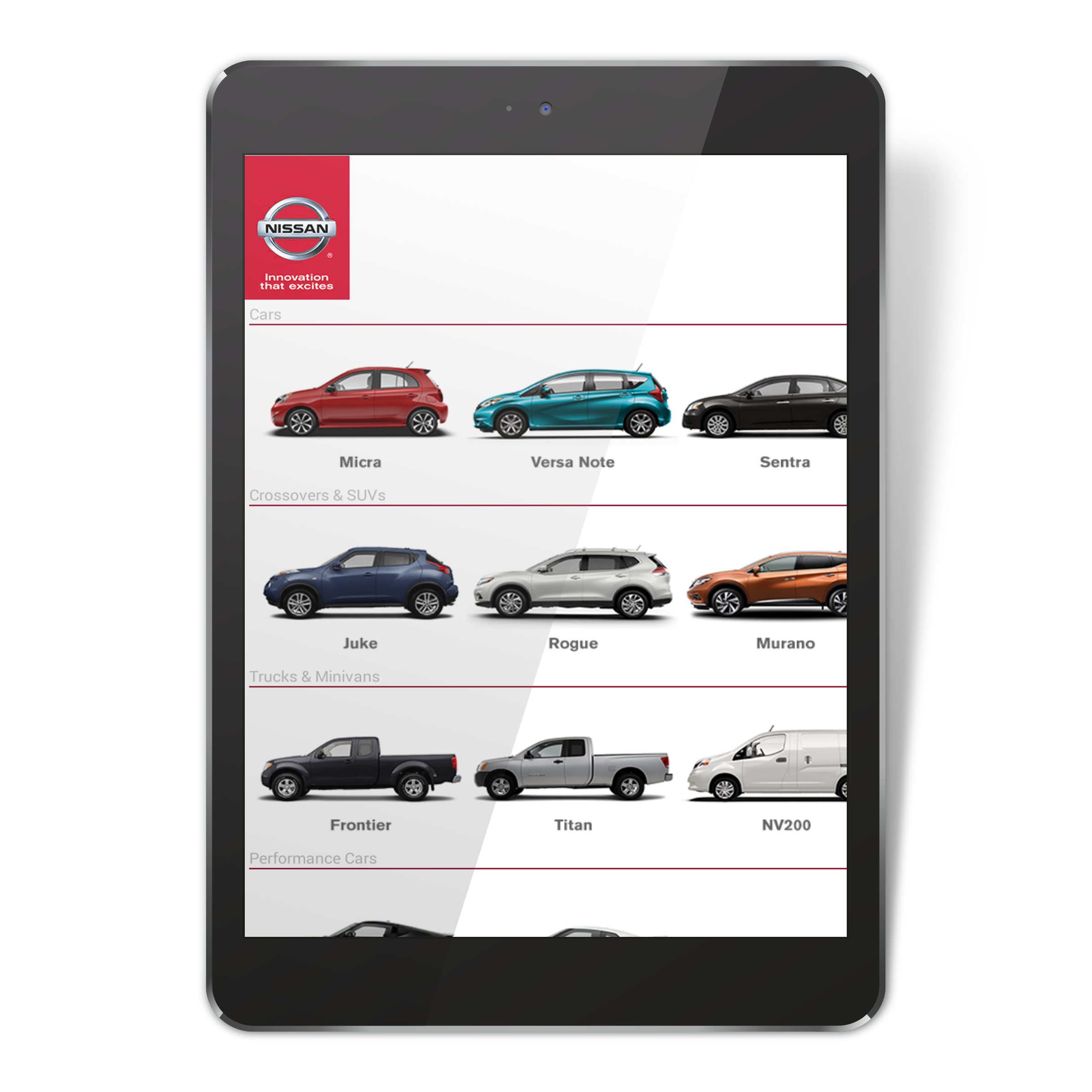 nissan inventory app