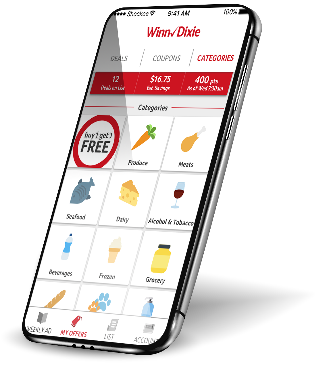 grocery store Winn dixie loyalty app